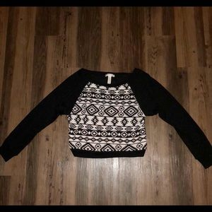 Ambiance Tops - Ambiance Apparel Tribal Print Crop Top